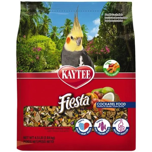 Kaytee Fiesta Cockatiel Food, 4.5-lb Bag.