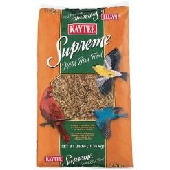 Kaytee Supreme Wild Bird Food With Sunflower, 25-lb Bag.