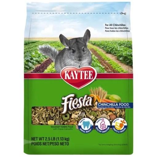 Kaytee Fiesta Gourmet Variety Diet Chinchilla Food, 2.5-lb Bag.