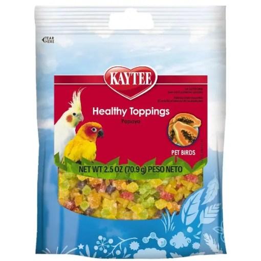Kaytee Healthy Toppings Papaya Treat for All Pet Birds, 2.5-oz.
