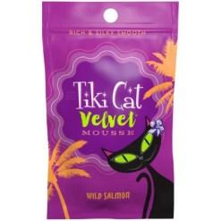 9380448009 Tiki Cat Velvet Mousse Salmon Grain-Free Wet Cat Food, 2.8-oz pouch