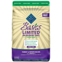 Blue Buffalo Basics Limited Ingredient Grain-Free Formula Turkey & Potato Recipe Adult Dry Dog Food, 11-lb SKU 5961000752