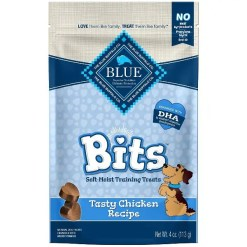 Blue Buffalo Blue Bits Tasty Chicken Recipe Soft-Moist Training Dog Treats, 4-oz SKU 5961000518