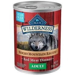 Blue Buffalo Wilderness Rocky Mountain Recipe Red Meat Dinner Grain-Free Canned Dog Food, 12.5-oz SKU 4024310115