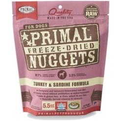 Primal Turkey & Sardine Formula Nuggets Raw Freeze-Dried Dog Food, 5.5-oz SKU 5033400437