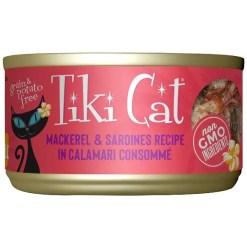 Tiki Cat Makaha Grill Mackerel & Sardine in Calamari Consomme Grain-Free Canned Cat Food SKU 9380410936
