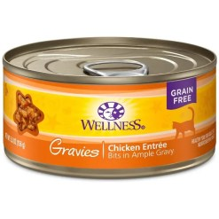 Wellness Grain Free Gravies Chicken Dinner Canned Cat Food, 5.5-oz SKU 7634402760
