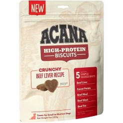 ACANA High-Protein Biscuits Crunchy Beef Liver Recipe, Small & Medium Breed, 9-oz SKU 6499271528