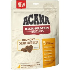 ACANA High-Protein Biscuits Crunchy Chicken Liver Recipe Dog Treats, Small & Medium Breed, 9-oz SKU 6499271526