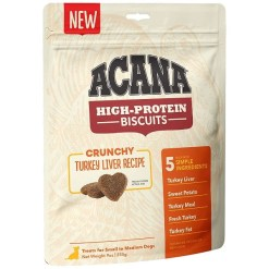 ACANA High-Protein Biscuits Crunchy Turkey Liver Recipe, Small & Medium Breed , 9-oz SKU 6499271527