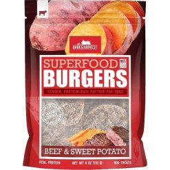 Bark & Harvest Superfood Burgers Beef & Sweet Potato Dog Treats, 6-oz SKU 1014202046