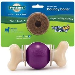 Busy Buddy Bouncy Bone Treat Dispenser Tough Dog Chew Toy, Medium SKU 5902307505