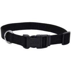 Coastal Adjustable Dog Collar with Plastic Buckle, Black, 1 in X 26 in SKU 7648404800