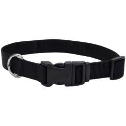 Coastal Adjustable Dog Collar with Plastic Buckle, Black