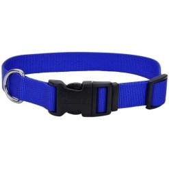 Coastal Adjustable Dog Collar with Plastic Buckle, Blue, 12in. SKU 7648404689