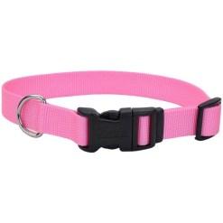 Coastal Adjustable Dog Collar with Plastic Buckle, Pink Bright, 20 in. SKU 7648406603