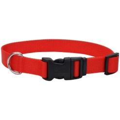 Coastal Adjustable Dog Collar with Plastic Buckle, Red, 12 in. SKU 7648404688