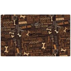 Drymate Best Friend Dog Bowl Placemat, Brown SKU 5803577067