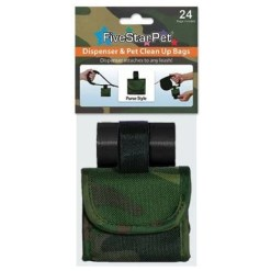 Five Star Pet Green Camouflage Purse Style Dispenser SKU 5791000186