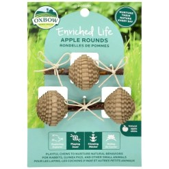 Oxbow Enriched Life Apple Rounds Small Animal Toy SKU 4484596535
