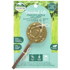 Oxbow Enriched Life Apple Timothy Lollipop Small Pet Chew Toy SKU 4484596527