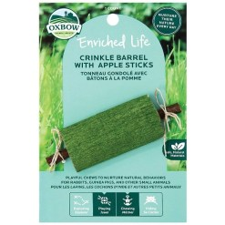 Oxbow Enriched Life Crinkle Barrel with Apple Sticks Small Animal Chew Toy SKU 4484596310