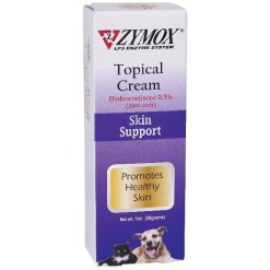 Zymox Enzymatic Topical Cream with Hydrocortisone 0.5% for Dogs & Cats, 1-oz Tube SKU 6733422905