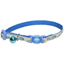 Coastal Safe Cat Glow in the Dark Adjustable Breakaway Collar, Blue Fish SKU 7648406755