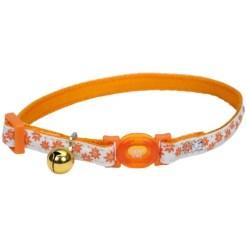 Coastal Safe Cat Glow in the Dark Adjustable Breakaway Collar, Orange Flowers SKU 7648406757