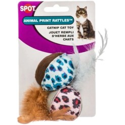 Ethical Pet Animal Print Rattle Cat Toy with Catnip, 2 Pack SKU 7723402658