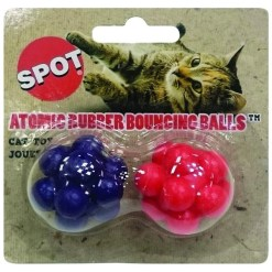 Ethical Pet Atomic Rubber Bouncing Ball Cat Toy, 2-pack SKU 7723402016