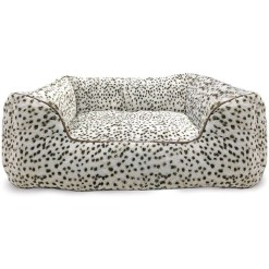 Ethical Pet Sleep Zone Step in Pet Bed, Snow Leopard, 25 in. SKU 7723431052