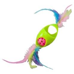 Ethical Pet Tie Dye Jingle Roller Cat Toy, 8 in. Color Varies SKU 7723452045