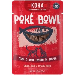 Koha Poké Bowl Tuna & Beef Entrée in Gravy for Cats, 3-oz Pouch SKU 1104802258