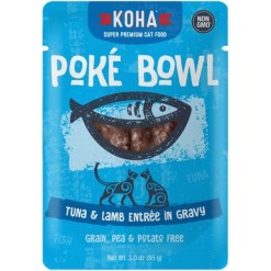 Koha Poké Bowl Tuna & Lamb Entrée in Gravy for Cats, 3-oz Pouch SKU 1104802258