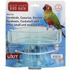 Lixit Quick Lock Small & Medium Bird Bath SKU 7671100787