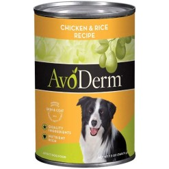AvoDerm Natural Chicken & Rice Recipe Canned Dog Food, 13-oz SKU 5290702014