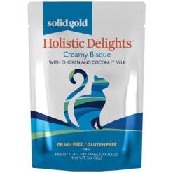 Solid Gold Holistic Delights Chicken & Coconut Milk Grain-Free Cat Food Pouches, 3-oz SKU 9376648303