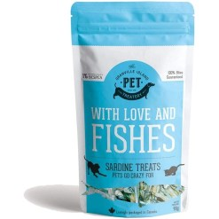 The Granville Island Pet Treatery Pure Proteins with Love and Fishes Sardine Treats for Dogs & Cats, 90-g