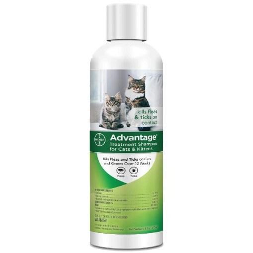 Advantage Flea & Tick Treatment Shampoo for Cats & Kittens, 8-oz SKU 2408979273