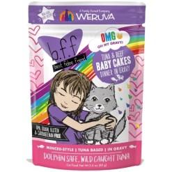 BFF Tuna & Beef Baby Cakes Dinner in Gravy Wet Cat Food Pouch, 3-oz SKU 7840800898