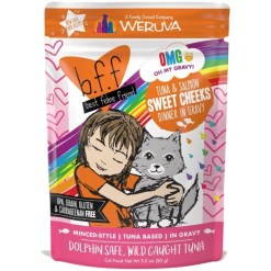 BFF Tuna & Salmon Sweet Cheeks Dinner in Gravy Wet Cat Food Pouch SKU 7840800899