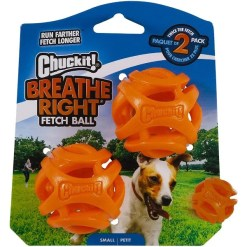 Chuckit! Breathe Right Fetch Ball Dog Toy, Small, 2 Pack SKU 2969531931