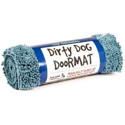 Dog Gone Smart Dirty Dog Doormat, Blue, Medium