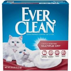 Ever Clean Multi-Cat Fresh Scented Clumping Clay Cat Litter, 25-lb Box SKU 9185471222