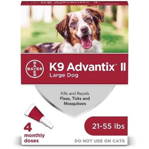 K9 Advantix II Flea & Tick Spot Treatment for Dogs, 21-55 lbs, 4 Pack SKU 2408920399