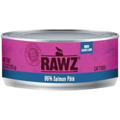 RAWZ 96% Salmon Pate Canned Cat Food, 5.5-oz SKU 5853100576