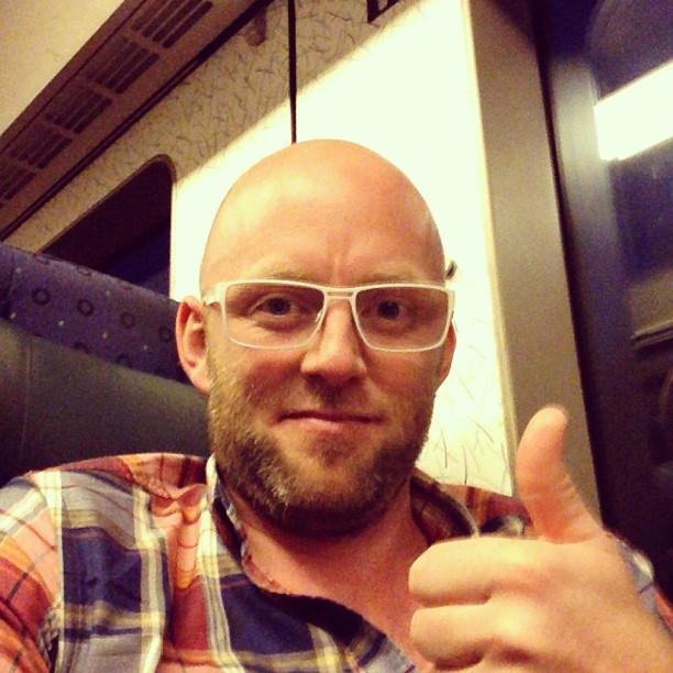 På väg hem, trött men lycklig, efter nästan en veckas #jonas_halmstadtv Sport-sändningar. Vad jag älskar bra människor!