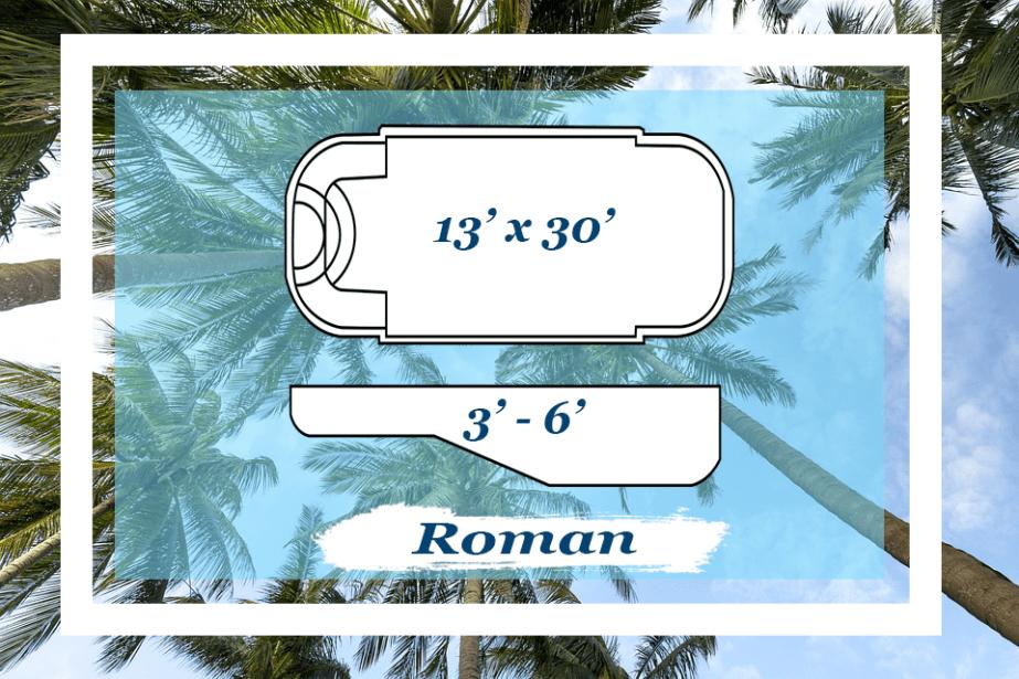 The Roman Pettit Fiberglass Pool