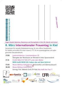 Postkarte 8. März Internationaler Frauentag in Kiel